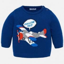 Mayoral 2326-82 Sweter chłopięcy z samolotem niebieski