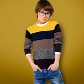 Mayoral 7302-36 Sweter chłopięcy w paski z długim rękawem