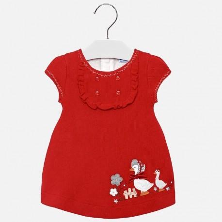 Mayoral 2910-25 Sukienka dziewczęca dzianinowa czerwona
