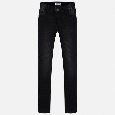 Mayoral 80-18 Spodnie dziewczęce długie jeans czarny