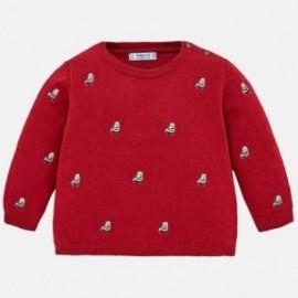 Mayoral 2320-28 Sweter chłopięcy w pieski czerwień