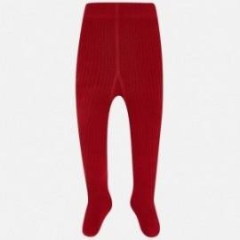 Mayoral 10453-73 Rajstopy prążkowane dziewczęce kolor czerwony
