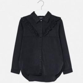 Mayoral 7120-22 Bluzka dziewczęca jeans kolor szary