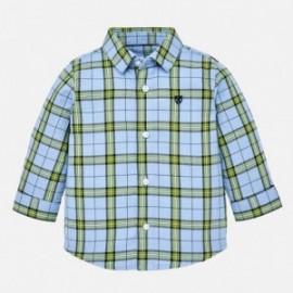 Mayoral 2132-33 Koszula chłopięca w kratę z długim rękawem niebieska