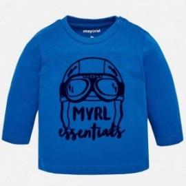 Mayoral 108-10 Koszulka chłopięca z długim rękawem niebieska