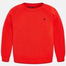 Mayoral 354-58 Sweter bawełniany chłopięcy czerwień
