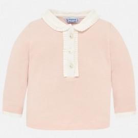 Mayoral 104-26 Koszulka polo dla dziewczynki róż