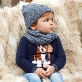 Mayoral 2318-57 Sweter chłopięcy z pieskiem granat