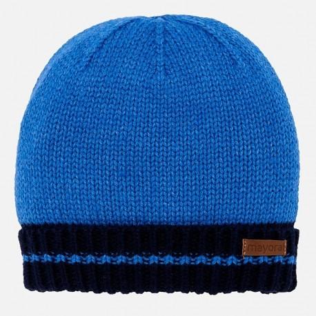 Mayoral 10449-36 Czapka chłopięca na zimę niebieska