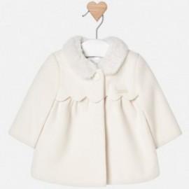 Mayoral 2440-68 Płaszcz wełniany dziewczęcy beż