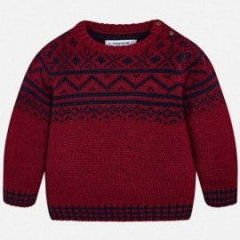Mayoral 2324-27 Sweter chłopięcy bordo