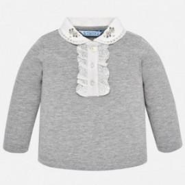 Mayoral 2122-29 Koszulka polo dziewczęca srebrna