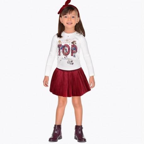 Mayoral 4922-55 Spódnica dziewczęca kolor malinowy