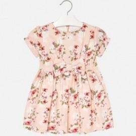 Mayoral 4936-47 Sukienka dziewczęca z nadrukiem różowa