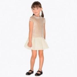 Mayoral 4940-75 Sukienka dziewczęca kolor brąz