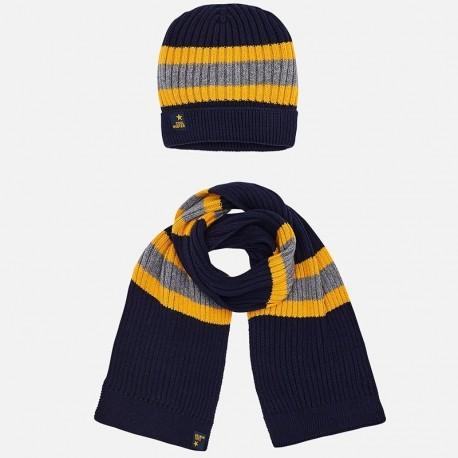 Mayoral 10483-66 Komplet zimowy chłopięcy czapka szalik