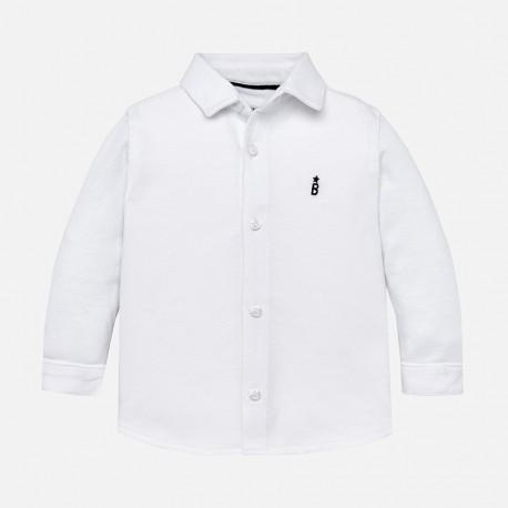 Mayoral 2134-11 Koszula bawełniana z kołnierzykiem chłopięca biała