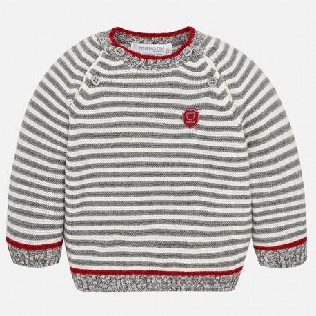 Mayoral 2306-51 Sweter w paski chłopięcy beż