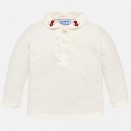 Mayoral 2122-30 Koszulka polo dziewczęca krem