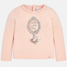 Mayoral 4046-58 Koszulka z nadrukiem dziewczęca pudrowy róż