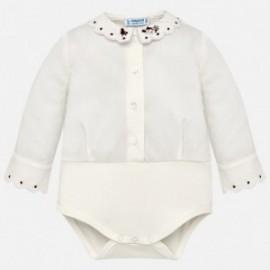 Mayoral 2782-10 Body eleganckie dla dziewczynki białe