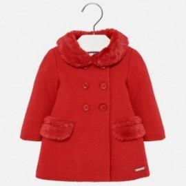 Mayoral 2482-57 Płaszcz dzianinowy dziewczęcy czerwony