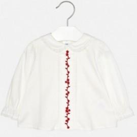 Mayoral 2124-57 Bluzka haftowana z kołnierzykiem dziewczęca czerwona