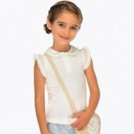 Mayoral 3101-38 Koszulka polo dziewczęca kremowa
