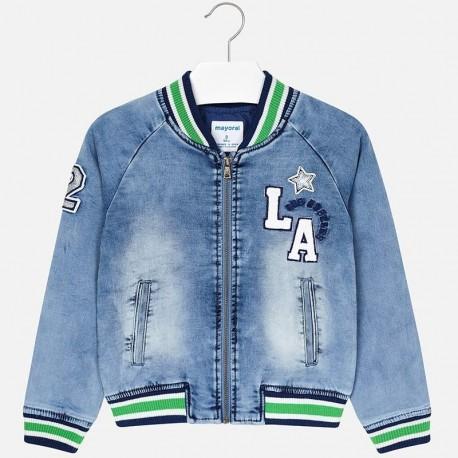 Mayoral 6406-51 Kurtka przejściowa jeans dziewczęca niebieska