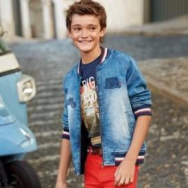 Mayoral 6422-5 Kurtka przejściowa jeans chłopięca niebieska