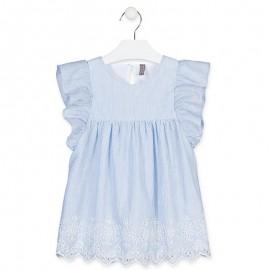 Losan Sukienka dla dziewczynki w paski Niebieska 916-7032AA-485