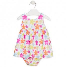 Losan Sukienka dla dziewczynki biała 918-7026AA-001