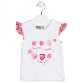Losan T-Shirt bluzka dla dziewczynki biała 918-1005AA-001
