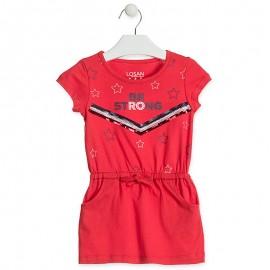 Losan Sukienka dziewczęca czerwona 916-7012AA-575