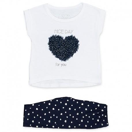Losan Komplet dla dziewczynki bluzka i getry biały 916-8000AA-001