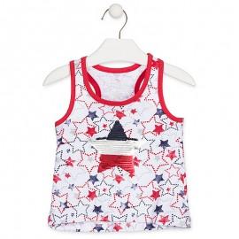 Losan T-Shirt na ramiączkach dziewczęcy biały 916-1017AA-001