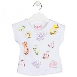 Losan T-Shirt na ramiączkach dziewczęcy biały 916-1031AA-001
