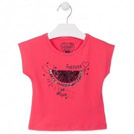 Losan T-Shirt na ramiączkach dziewczęcy czerwony 916-1009AA-075