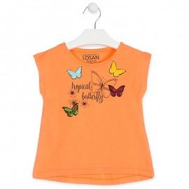 Losan T-Shirt na ramiączkach dziewczęcy pomarańcz 916-1020AA-621
