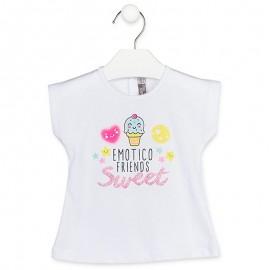 Losan T-Shirt na ramiączkach dziewczęcy Biały 918-1007AA-001