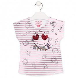 Losan T-Shirt na ramiączkach dziewczęcy biały 916-1007AA-001