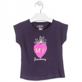 Losan T-shirt na ramiączkach dziewczęcy granat 916-1211AA-378