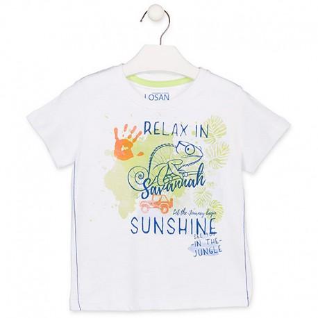 Losan T-Shirt sportowy dla chłopaka biały 915-1013AA-001