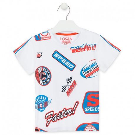 Losan T-Shirt sportowy dla chłopca biały 915-1031AA-001