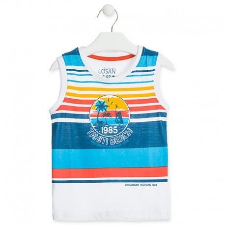 Losan T-Shirt sportowy dla chłopca biały 915-1030AA-001