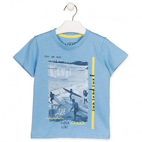 Losan T-Shirt sportowy chłopięcy niebieski 915-1004AA-709