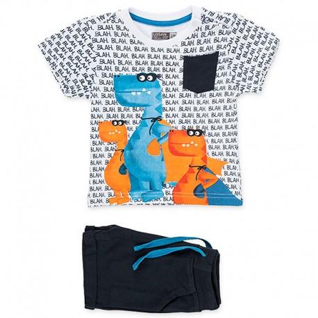 Losan Zestaw T-Shirt I bermudy biały 917-8012AA-001