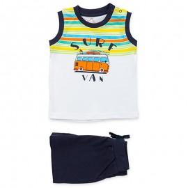 Losan Zestaw dla chłopaka t-shirt i bermudy biały 917-8046AA-001