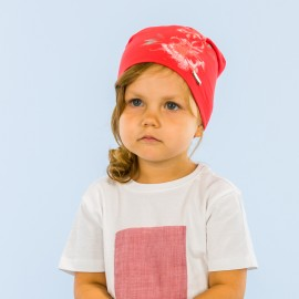 Pupill Czapka dziewczęca przejściowa czerwona Penelope