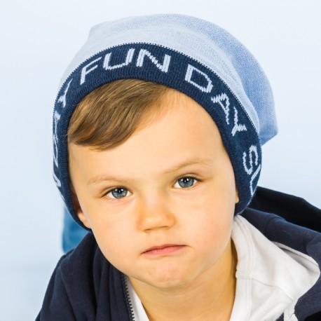 Pupill Czapka chłopięca przejściowa niebieska Joe